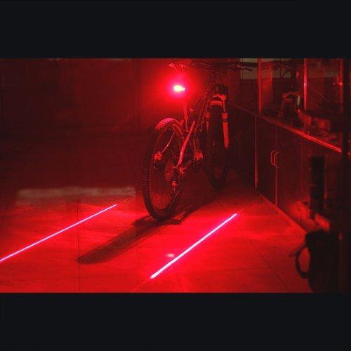 Amazon.com : Candance 2 Laser 5 LED Cycling Bicycle Bike Flash Taillight