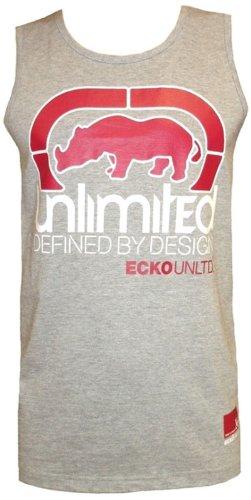 Mens Ecko Unltd 'Mamba' Sleeveless Vest Top Greymarl xlarge