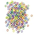 "100 Pack Orthodontic Elastics 1/4"" MULTIPLE MIXED NEON COLORED Rubber Bands Great for Dog Grooming Top Knots, Bows, Braids, and Dreadlocks"