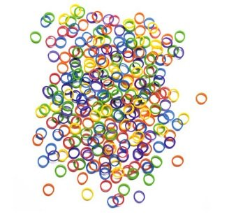 """100 Pack Orthodontic Elastics 1/4"""" MULTIPLE MIXED NEON COLORED Rubber Bands Great for Dog Grooming Top Knots, Bows, Braids, and Dreadlocks"""