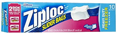 Ziploc Slider Freezer Bags - 1 gallons - 10 ct