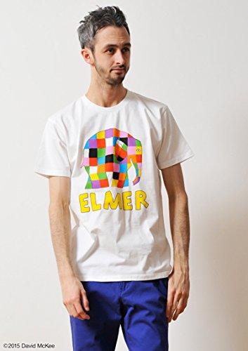 ( グラニフ ) graniph コラボレーション Tシャツ / ぞうのエルマー ロゴ ( ぞうのエルマー ) ( ホワイト ) S