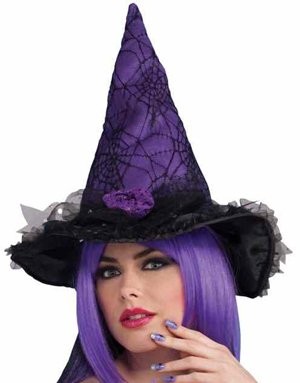 Halloween Spider Web Witches Hat