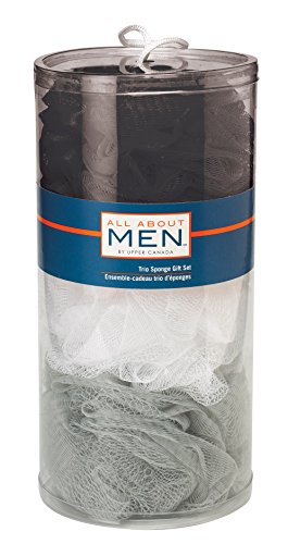 Accessories By Upper Canada All About Men 3 Sponge Bath Gift Set