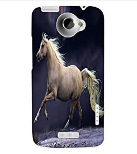 ColourCraft Fabulous Horse Design Back Case Cover for HTC ONE X