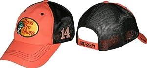 Tony Stewart 2014 NASCAR Bass Pro Shops #14 Adjustable Mesh Trucker Hat -Orange Black by Checkered Flag