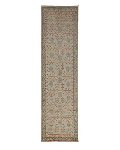 Darya Rugs Khotan Oriental Rug, Ivory, 2' 10 x 10' 2 Runner