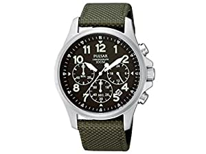 Pulsar Mens Gents PT3423X1 Military Strap Wrist Watch