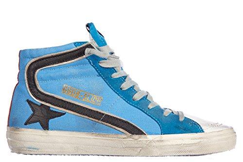 Golden-Goose-zapatos-zapatillas-de-deporte-largas-hombres-nuevo-slide-vintage-bl