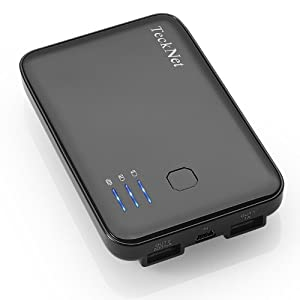 TeckNet® iEP380 5000mAh Dual-Port External Battery Pack and Charger for