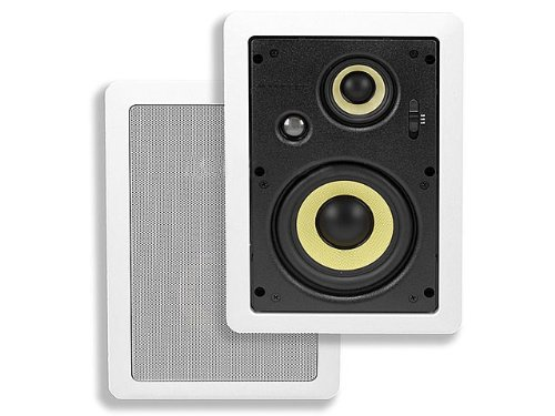 Monoprice 107607 6-1/2-Inch 3-Way High Power In-Wall Pair Speaker