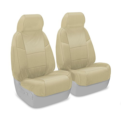 Coverking Custom Fit Front 50/50 Bucket Seat Cover for Select Lexus SC300/SC400 Models - Ballistic (Cashmere) (Sc400 Seat Cover compare prices)