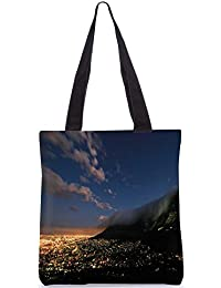 Snoogg Abstract Smoke On Top Digitally Printed Utility Tote Bag Handbag Made Of Poly Canvas