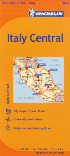 Michelin Italy: Central Map 563 (Maps/Regional (Michelin))