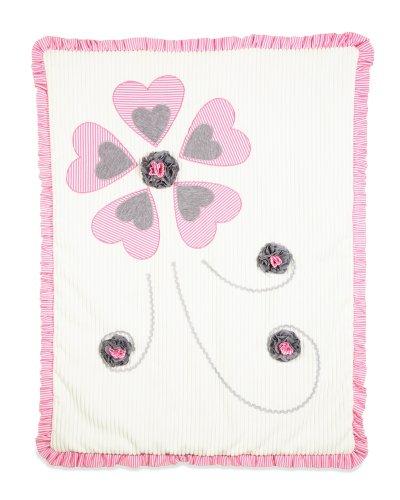 "Pavilion Gift Company Ribbed Chenille Baby Blanket, Prima Ballerina, 30"" x 40"""