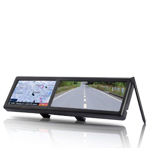 "Car Rearview Mirror 4.3"" Inch Touch Screen Gps Navigator With Bluetooth Av-In Fm front-1006300"