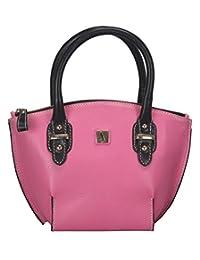 Adamis Beautiful Designed Handbag (Pink_B713)
