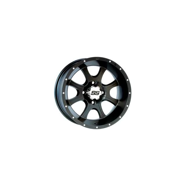 ITP SS108 Wheel   14x6   4+3 Offset   4/156   Black, Wheel Rim Size 14x6, Rim Offset 4+3, Color Black, Bolt Pattern 4/156 12SS203BX