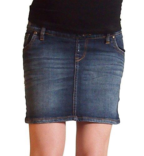 Love2wait maternità gonna Sarah Jeans delle donne dark dirndlesweet B999004 Dark Wash 38