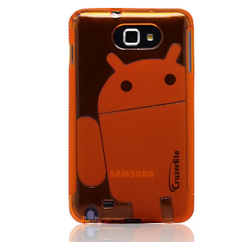 41XLN2NL89L * Orange   Cruzer Lite Androidified A2 High Gloss TPU Soft Gel Skin Case   For Samsung Galaxy Note [Cruzer Lite Retail Packaging] Discount