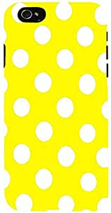 Snoogg Yellow Polka Dot Case Cover For Apple Iphone 6+