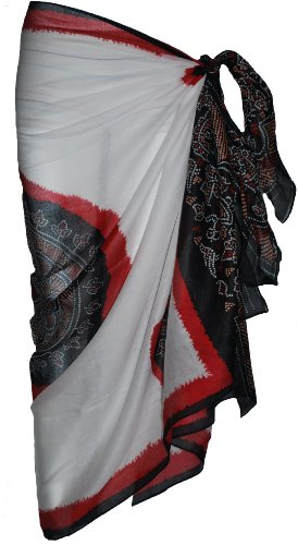 White Sarong with Bandana Design
