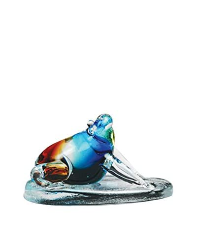 Dynasty Gallery Glass Frog On Stand, Multi