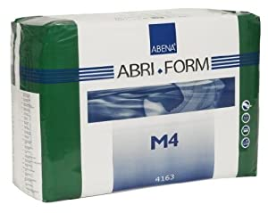 Abena Abri-Form Briefs, X-Plus, Medium M4, Case/42 (3/14s) by Abena