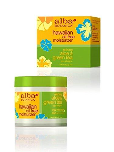 Alba Botanica Aloe & Green Tea Oil Free Moisturizer, Hawaiian, 3-Ounce Bottle (Pack Of 2)