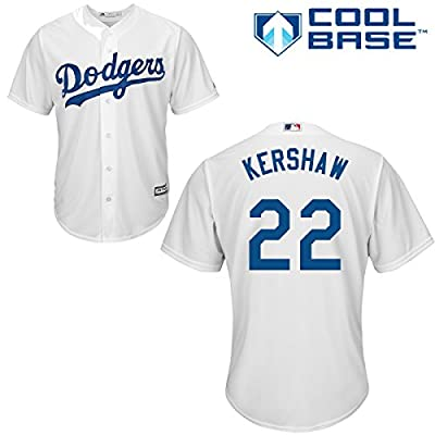 Clayton Kershaw Los Angeles Dodgers Home Youth Cool Base Jersey by Majestic