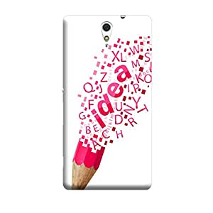 Digi Fashion Designer Back Cover with direct 3D sublimation printing for Sony Xperia C5