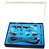 Aerograph Dual Action Airbrush Complete Set 0.2, 0.3, 0.5mm Needles Nozzles