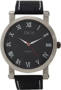"Dice ""Vintage 1201"" Casual Round Shaped Wrist Watch For Men. Fitted with Beautiful Black Color Dial and Anti Allergic Leather Strap"