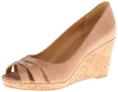 Nine West Women's Jelica New Hollywood Wedge Sandal,Natural,5 M US