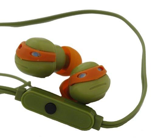 Nickelodeon 11465-Mic-Tru Turtles Earbuds With Mic
