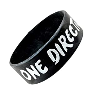 Black I Love One Direction Wristband I Love One Direction Bracelet 1 Wide 1 from Hinky Imports