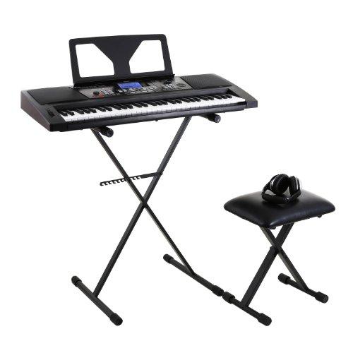 """Schubert """"Little Vivaldi"""" Set Tastiera pianola musicale supporto sgabello e cuffie"""