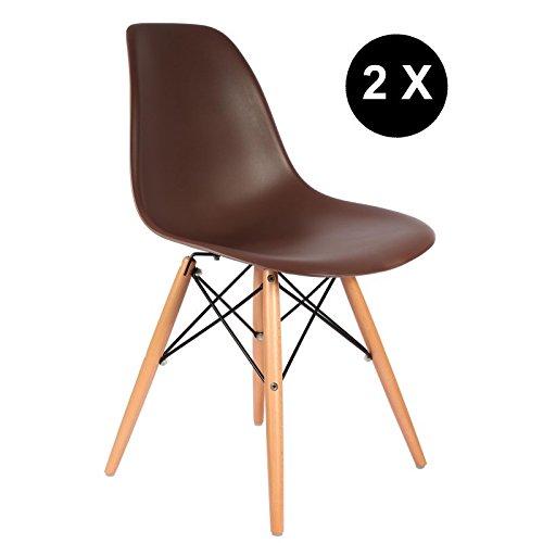 PROMO-Set-2-sedie-x-Design-stile-DSW-piedi-in-legno-chiaro-con-seduta-PP-mobistyl-DSWL2-MOBI