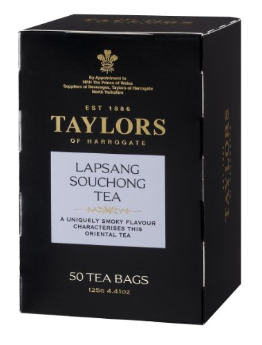 Taylors of Harrogate Lapsang Souchong Tea, 50-Count Tea Bags (Pack of 6)