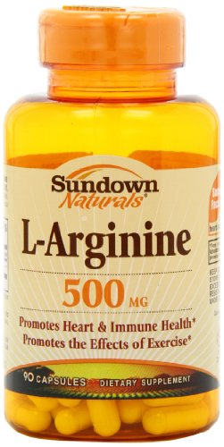Sundown Naturals L-Arginine 500 Mg, 90 Capsules (Pack Of 2)