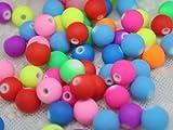 Bracelet Bead - TOOGOO(R) 100 Pieces Bead Bracelet Beads Multicolor Round Acrylic DIY
