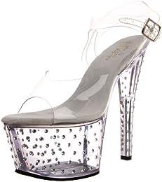 Pleaser Women s Stardust 708 Platform Sandal