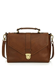 M&S Collection Leather Pushka Satchel