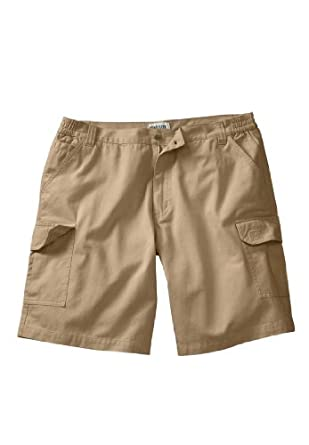 "Essential 10"" Side Elastic Cargo Short, Khaki 36"