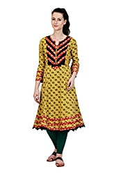 Aana Aana Hand Block Printed Anarkali-Small