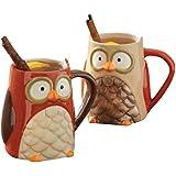 TAG Owl Mugs, Assorted Set of 2