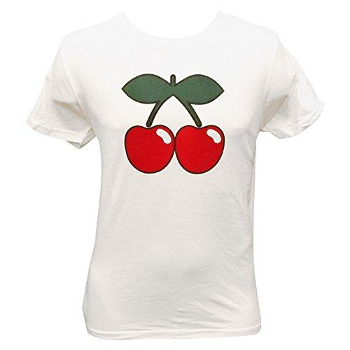 Pacha: T-shirt Uomo Bianco con Ciliegia Basic Logo - Bianco, L - Large