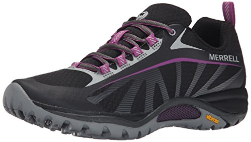 Merrell Women's Siren Edge Hiking Shoe, Black/Purple, 9 M US