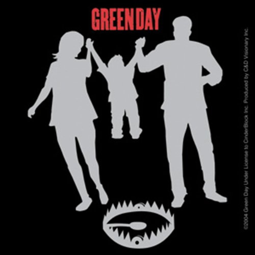Licenses Products Green Day Sticker Trap Sticker