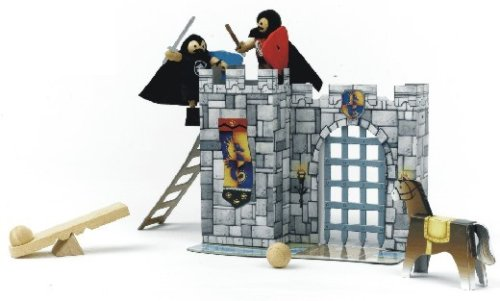 Voila Castle Fortress Activity Set with 2 Poseable Knights